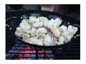 Cauliflower on Grill