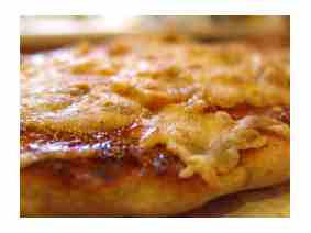 BBQ Pizza Done Close Up