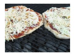 BBQ Pizza on Grill
