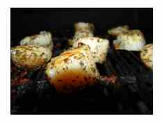 Scallops on Grill