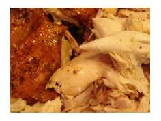 Chicken Cut Up and Plated